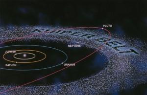 Weit außerhalb der Neptunbahn befindet sich der Kuipergürtel. (Credit: NASA/JPL)