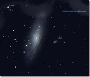 Sternbild Andromeda (M31 M32) - Astronomie