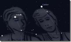 Sternbild Zwillinge Castor und Pollux Astronomie