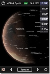 Mars Globe - Mars-Atlas