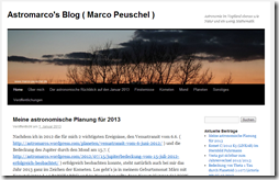 Astronomie bei Astromarco's Blog