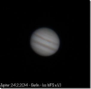 Jupiter 24.2.2014 - Doppelrefraktor (cc) WFS e.V.