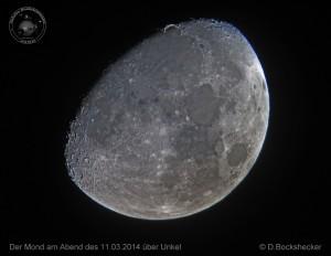Mond am Abend des 11.03.2014 über Unkel - Daniel Bockshecker