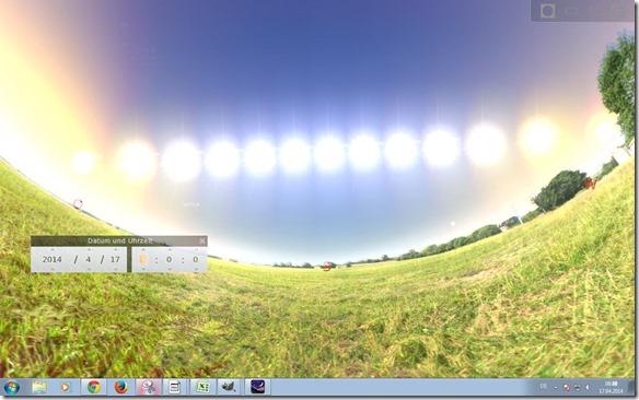 Sonnenpfad über den Himmel