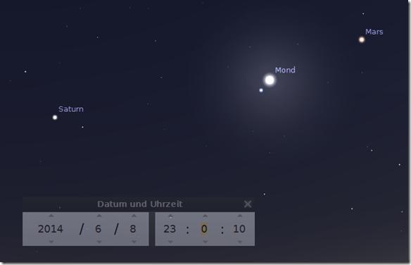 Beobachtungstipps Mond Mars Saturn Iss Clear Sky Blog