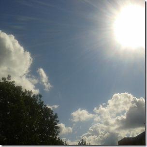 Sonne über Berlin Lichtenberg 27.8.2014