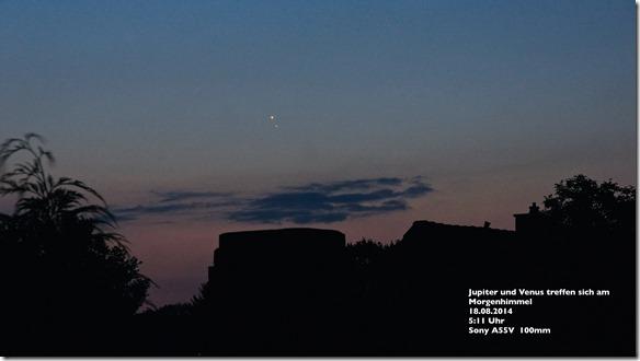 Thomas W. Jupiter und Venus am 18.8.
