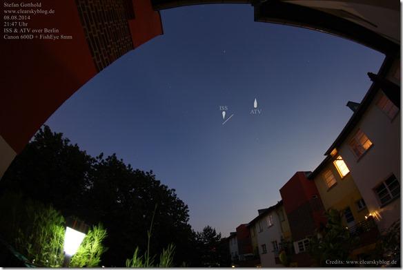 ISS und ATV über Berlin