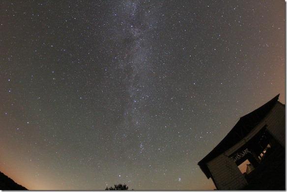 Die Milchstraße und die Sterne am Himmel