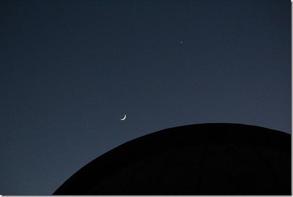Mond, Venus und Aldebaran