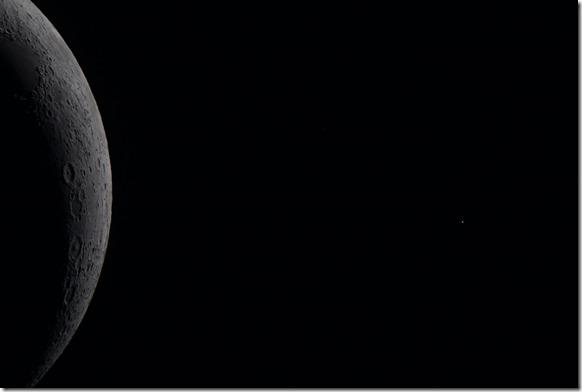 Mond und Aldebaran