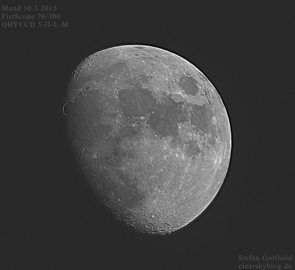 Mond mit FirstScope-Teleskop