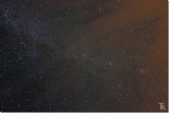 Milchstraße mit Wolken
