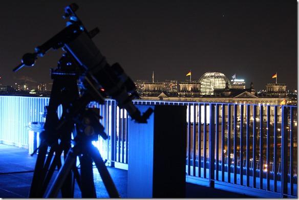 Teleskop und Reichstag
