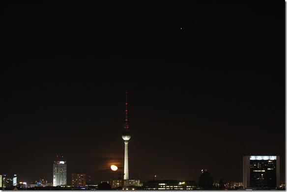 Mond und Jupiter über Berlin