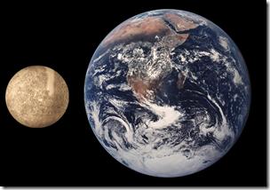 Merkur Erde Vergleich
