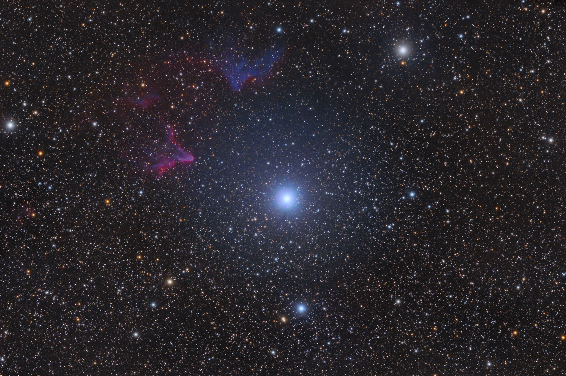Gamma-Cas-Nebula IC59 und IC63