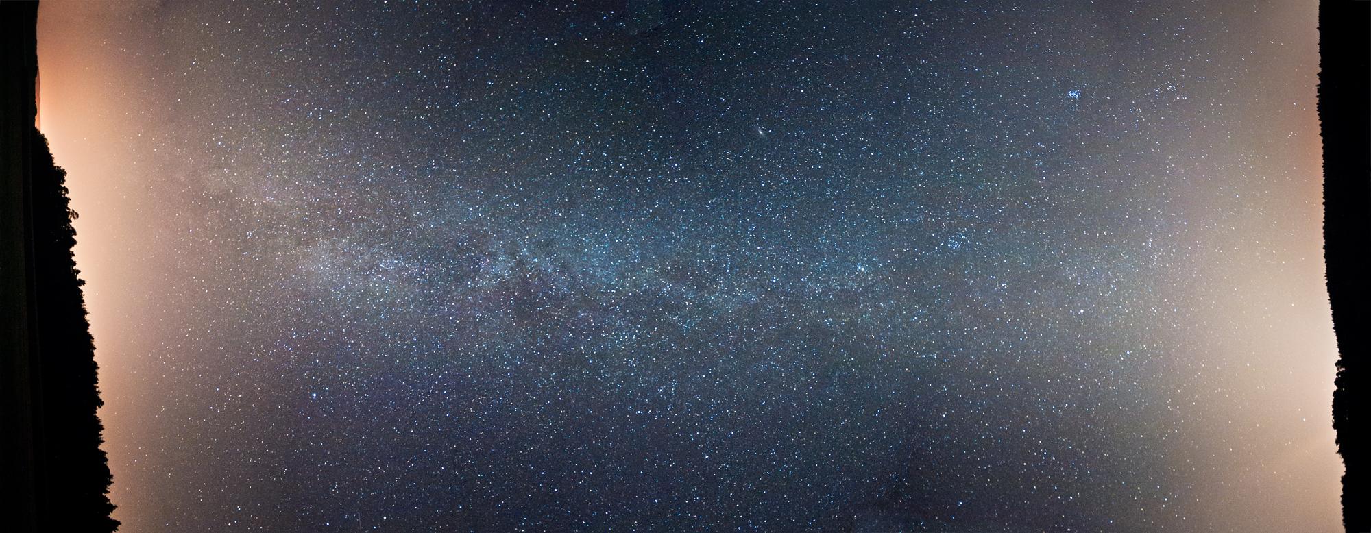 Milchstraße trifft Lichtverschmutzung