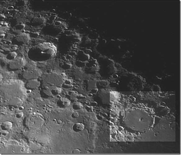 Hesiodus-Strahl auf dem Mond