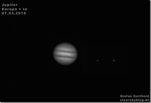 Jupiter mit Monden Europa und Io