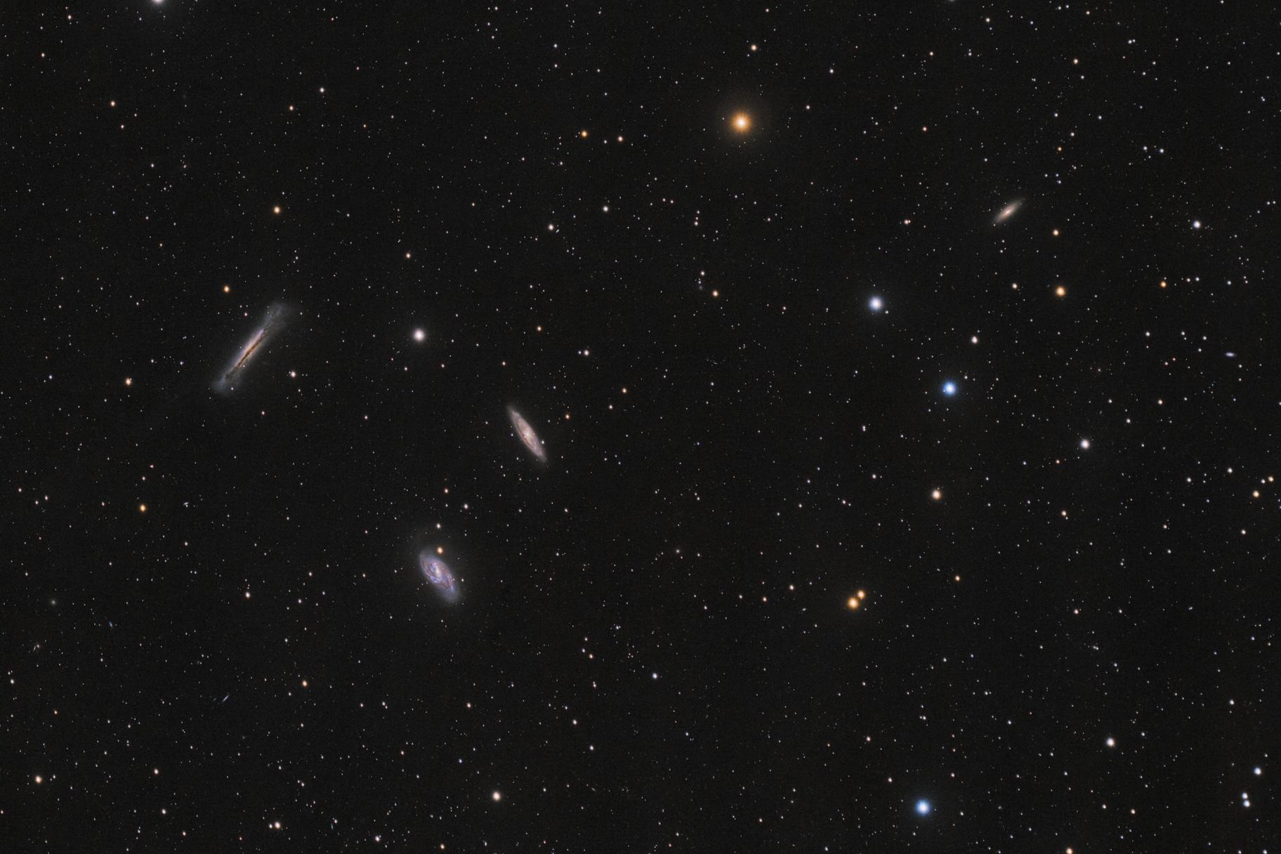 M66 Gruppe mit Leo Triplet und NGC3593