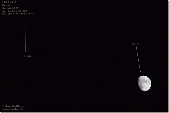 Monbd und Jupiter über Berlin