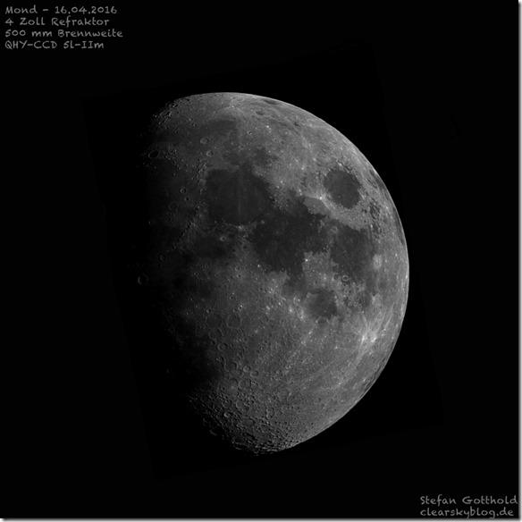Mond mit Teleskop