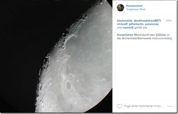 Astrofotografie mit dem smartphone handy clear sky blog