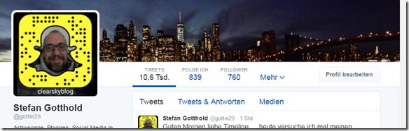 Twitter Profil von Stefan Gotthold