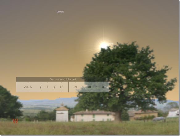 planeten abendhimmel september 2016