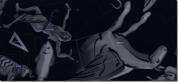 Sternbild Pegasus und Andromeda