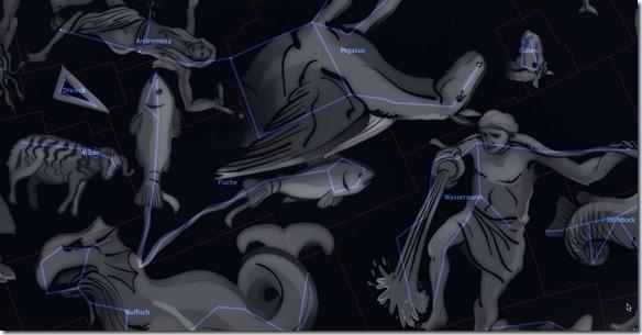 Sternbilder Widde, Fische und Wassermann