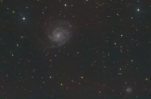 Die Feuerradgalaxie M101 am 150/750mm Newton