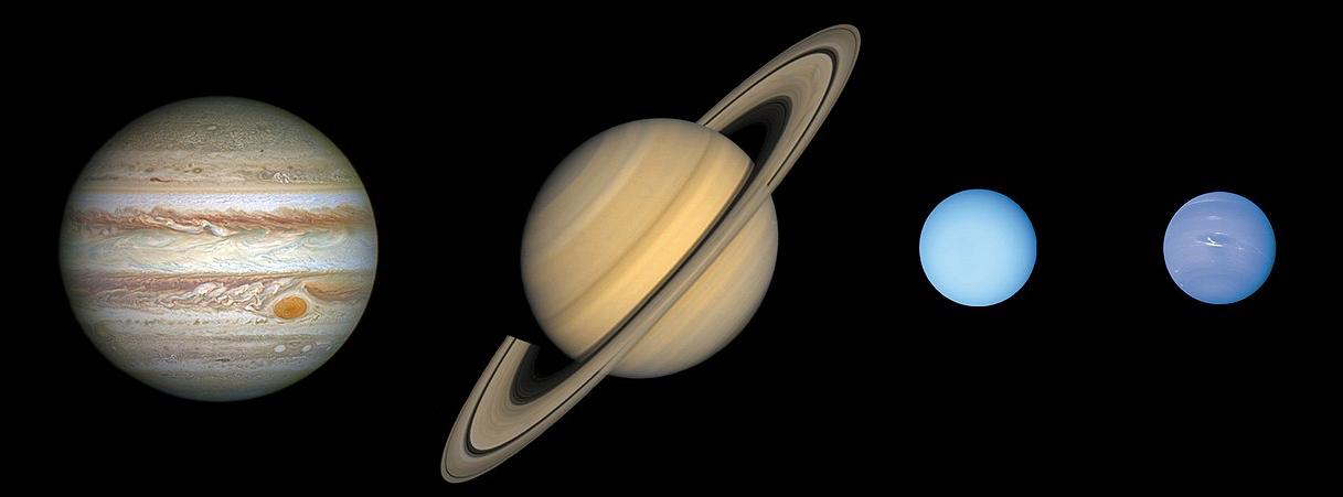 Gasplaneten im Sonnensystem