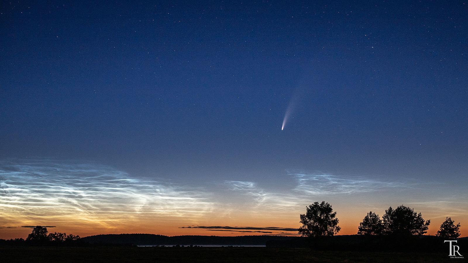 Komet NEOWISE über dem Westhavelland