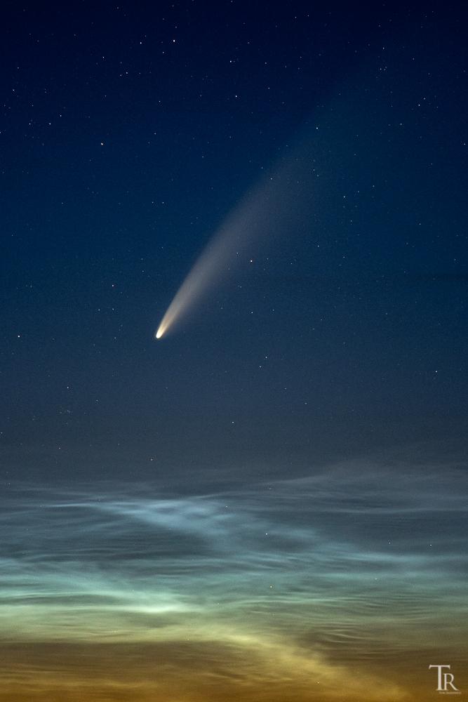 Kometen Aufnahme von Tom