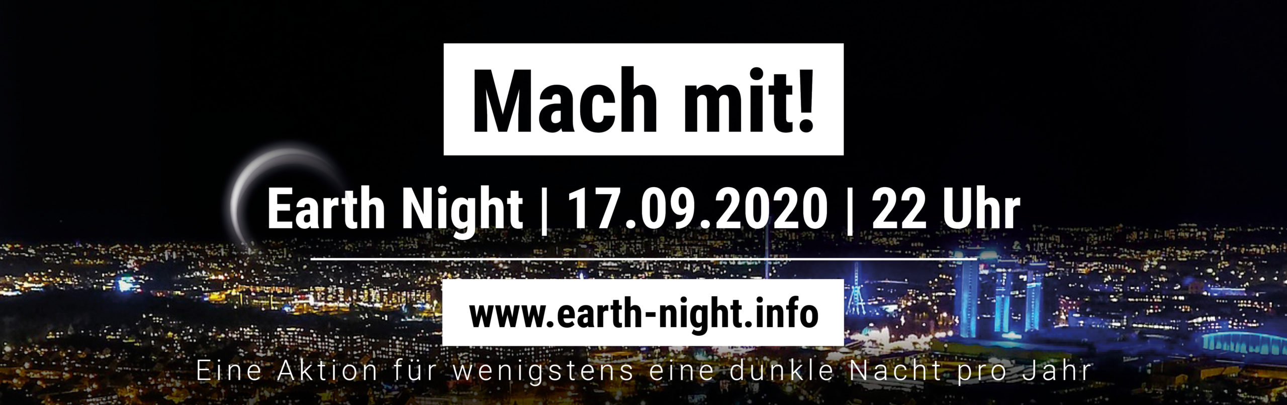 Earth Night Banner